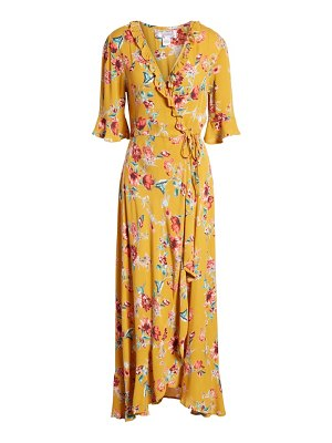 Band of Gypsies hudson floral print maxi wrap dress