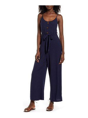 Band of Gypsies journey rib knit belted jumpsuit