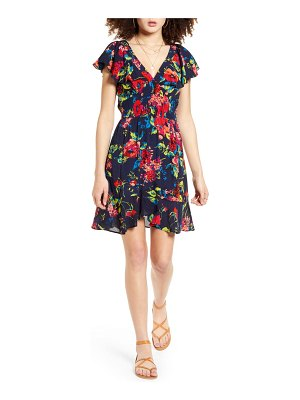 Band of Gypsies rose island floral print minidress