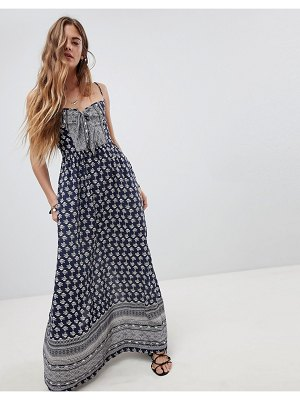 Band of Gypsies tie front maxi dress
