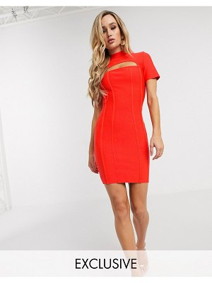 Band of Stars exclusive bandage mini dress in red