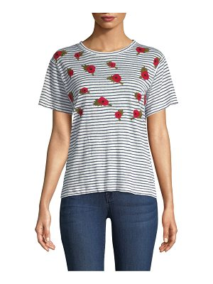 Banner Day british poppies linen tee