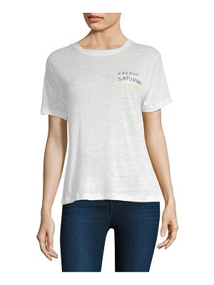 Banner Day linen weekend t-shirt