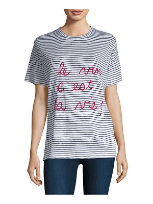 Banner Day striped graphic tee