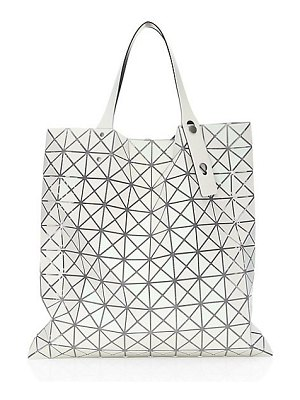 Bao Bao Issey Miyake white prism frost tote