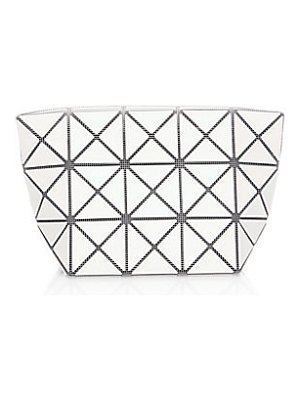 Bao Bao Issey Miyake white prism frost zip clutch