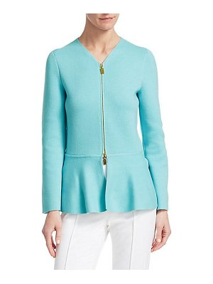 Barbara Lohmann gabrielle v-neck zip-up jacket