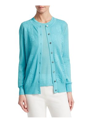 Barbara Lohmann gill silk-blend pointelle cardigan