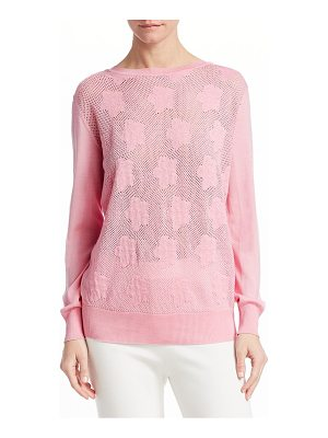 Barbara Lohmann giselle pointelle cashmere pullover