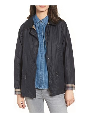 Barbour acorn water resistant waxed cotton jacket