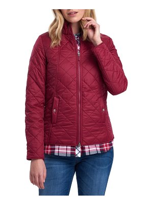 Barbour backstay diamond quilted jacket
