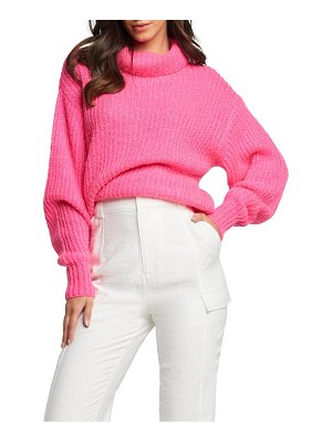 Bardot balloon sleeve turtleneck sweater