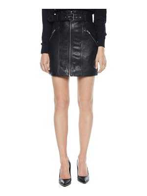 Bardot leather miniskirt
