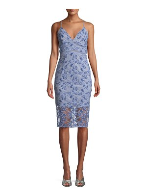 Bardot Sapphire Embroidered Sheath Cocktail Dress