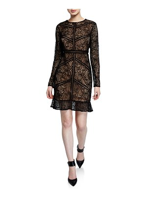 Bardot Sasha Long-Sleeve Lace Dress
