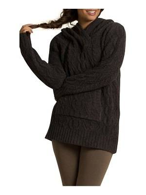 Barefoot Dreams barefoot dreams cozychic(tm) zigzag cable knit hoodie