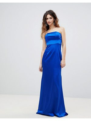 Bariano bandeau satin maxi dress