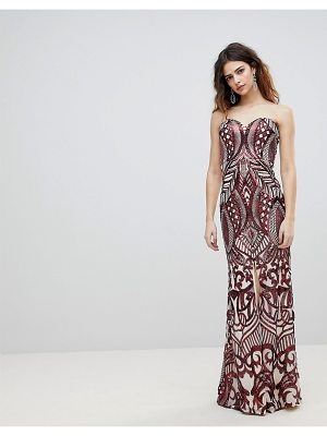 Bariano embellished bandeau maxi dress