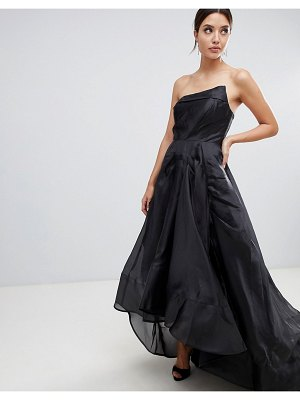 Bariano full maxi dress with origami bust detail
