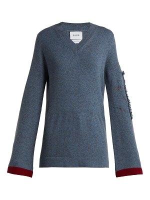 Barrie Bright Side V Neck Cashmere Sweater