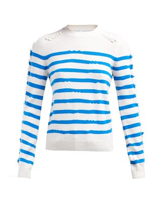 Barrie Fancy Coast Striped Cashmere Sweater