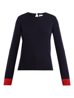 Barrie Flower Patches cashmere sweater
