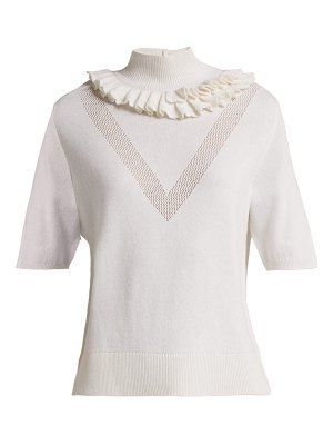 Barrie Flying Lace ruffled cashmere sweater