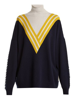 Barrie Halls of Ivy tri-colour cashmere sweater