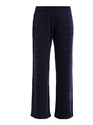 Barrie rib knitted cashmere track pants