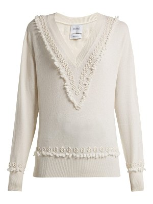 Barrie Romantic Timeless V Neck Cashmere Sweater