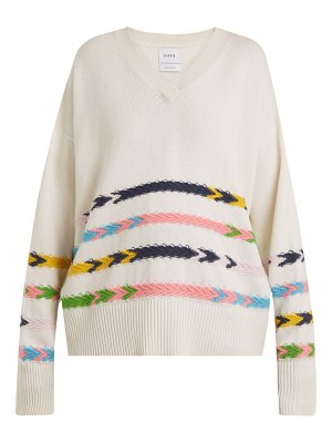 Barrie Summer Sailor V-neck cashmere sweater