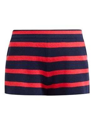 Barrie summer vibration striped cashmere shorts