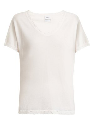 Barrie Sweet Eighteen distressed cashmere T-shirt