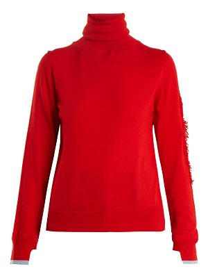 Barrie Thistle roll-neck contrast-panel cashmere sweater