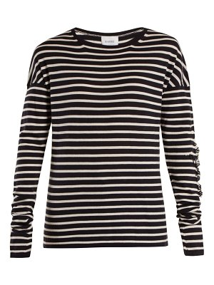 Barrie Thistle striped cashmere sweater