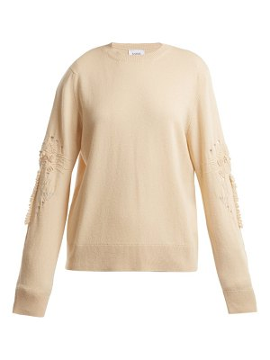 Barrie Timeless distressed-sleeve cashmere sweater