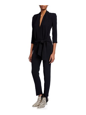 ba&sh Cycy 3/4-Sleeve Plunging Jumpsuit