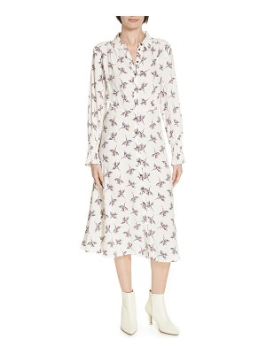 ba&sh floral print midi shirtdress