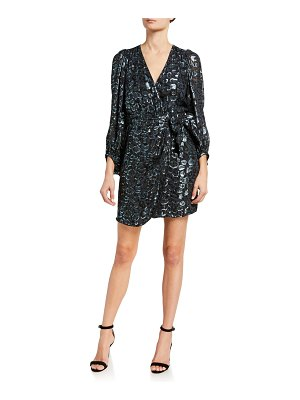 ba&sh Ginger Metallic Wrap Dress