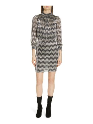 ba&sh goldy zigzag metallic stripe dress