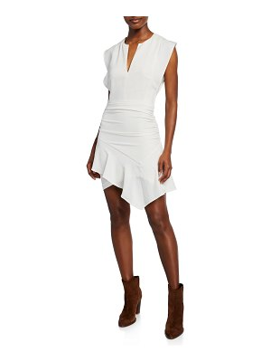 ba&sh jess asymmetric mini dress