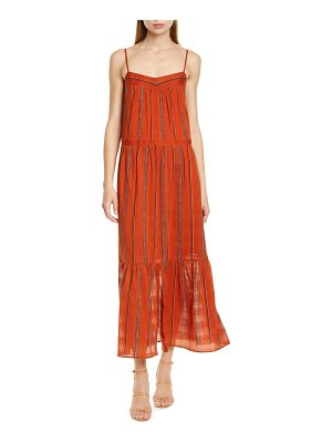 ba&sh kyo tiered cotton maxi dress