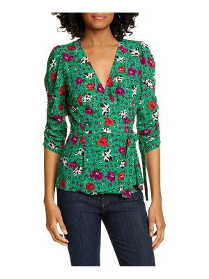 ba&sh paco floral wrap top