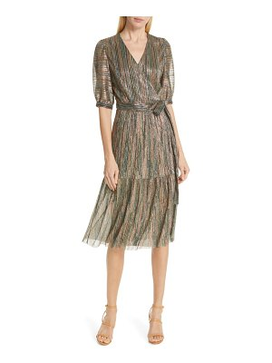 ba&sh star metallic midi dress
