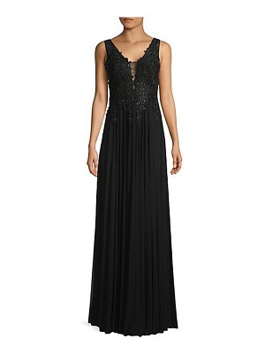 Basix Black Label embroidered-bodice column gown