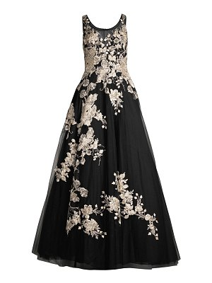 Basix Black Label embroidered floral ball gown