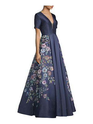 Basix Black Label hand painted floral gown