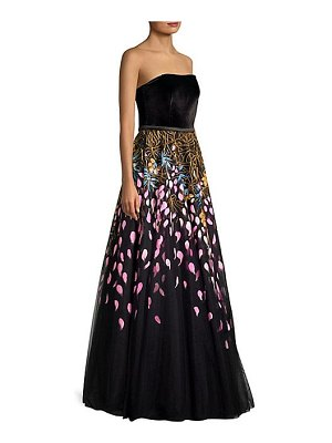 Basix Black Label handpainted sleeveless gown