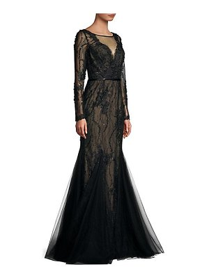 Basix Black Label lace tulle mermaid gown