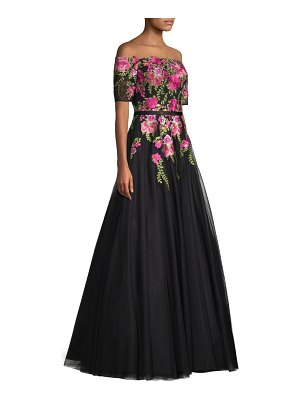 Basix Black Label off-the-shoulder floral ball gown